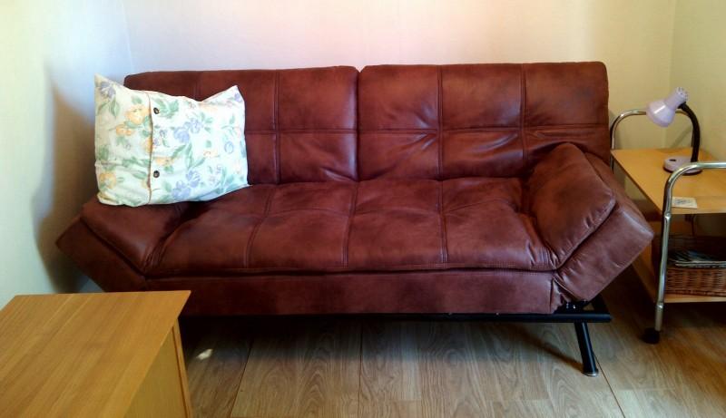 Comfy sofa bed.